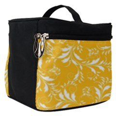 Fancy Floral Pattern Make Up Travel Bag (small)