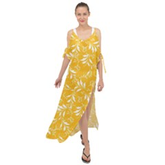 Fancy Floral Pattern Maxi Chiffon Cover Up Dress