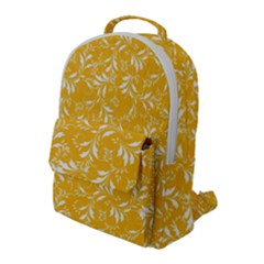 Fancy Floral Pattern Flap Pocket Backpack (large)