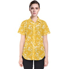Fancy Floral Pattern Women s Short Sleeve Shirt