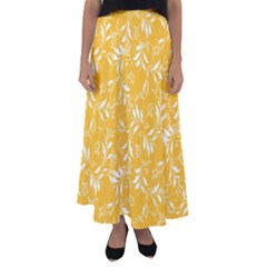 Fancy Floral Pattern Flared Maxi Skirt