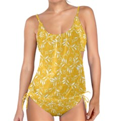 Fancy Floral Pattern Tankini Set