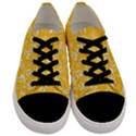 Fancy Floral Pattern Men s Low Top Canvas Sneakers View1