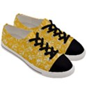 Fancy Floral Pattern Men s Low Top Canvas Sneakers View3