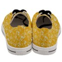 Fancy Floral Pattern Men s Low Top Canvas Sneakers View4