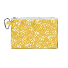 Fancy Floral Pattern Canvas Cosmetic Bag (medium)