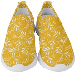 Fancy Floral Pattern Kids  Slip On Sneakers