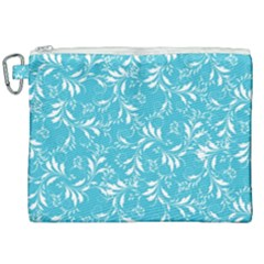 Fancy Floral Pattern Canvas Cosmetic Bag (xxl)