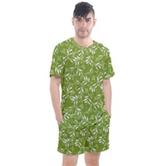 Fancy Floral Pattern Men s Mesh Tee And Shorts Set by tarastyle