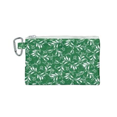 Fancy Floral Pattern Canvas Cosmetic Bag (small)