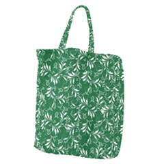 Fancy Floral Pattern Giant Grocery Tote