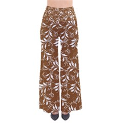 Fancy Floral Pattern So Vintage Palazzo Pants by tarastyle