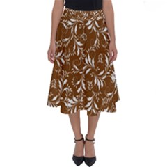 Fancy Floral Pattern Perfect Length Midi Skirt