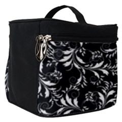 Fancy Floral Pattern Make Up Travel Bag (small) by tarastyle
