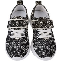 Fancy Floral Pattern Kids  Velcro Strap Shoes by tarastyle