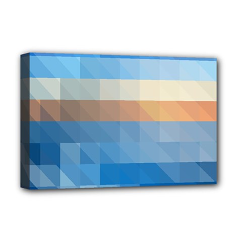 Static Graphic Geometric Deluxe Canvas 18  X 12  (stretched)
