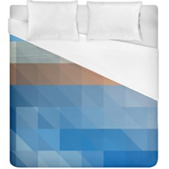 Static Graphic Geometric Duvet Cover (king Size)