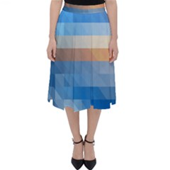 Static Graphic Geometric Classic Midi Skirt