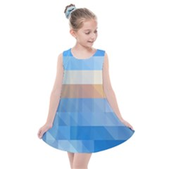 Static Graphic Geometric Kids  Summer Dress by AnjaniArt