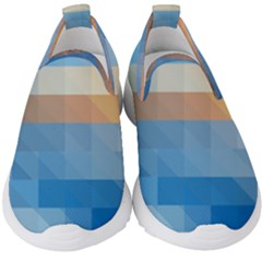 Static Graphic Geometric Kids  Slip On Sneakers by AnjaniArt