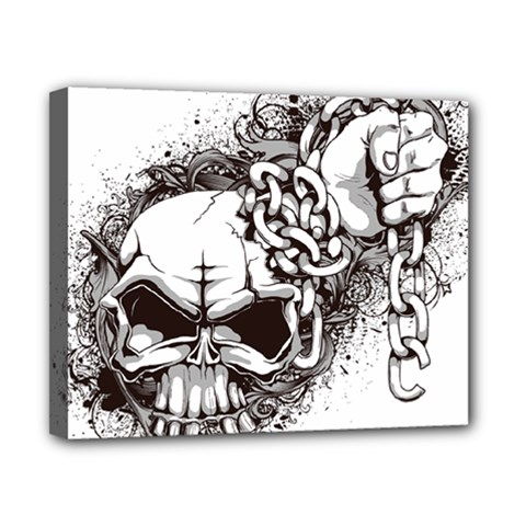 Skull And Crossbones Canvas 10  X 8  (stretched)