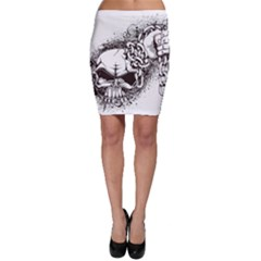 Skull And Crossbones Bodycon Skirt