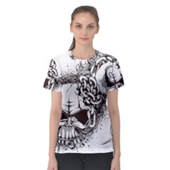 Skull And Crossbones Women s Sport Mesh Tee