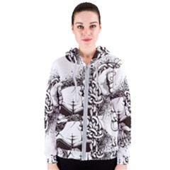 Skull And Crossbones Women s Zipper Hoodie