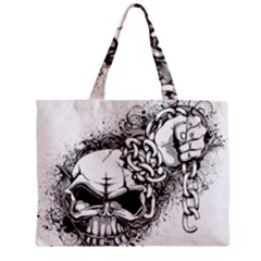 Skull And Crossbones Zipper Mini Tote Bag