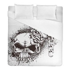 Skull And Crossbones Duvet Cover (full/ Double Size) by Alisyart