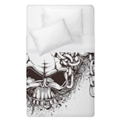 Skull And Crossbones Duvet Cover (single Size) by Alisyart