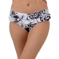 Skull And Crossbones Frill Bikini Bottom