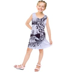 Skull And Crossbones Kids  Tunic Dress