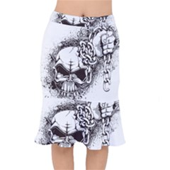 Skull And Crossbones Mermaid Skirt