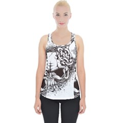 Skull And Crossbones Piece Up Tank Top