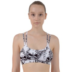 Skull And Crossbones Line Them Up Sports Bra