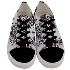 Skull And Crossbones Men s Low Top Canvas Sneakers