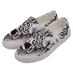 Skull And Crossbones Men s Canvas Slip Ons by Alisyart