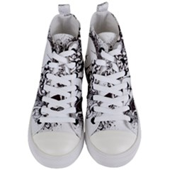 Skull And Crossbones Women s Mid Top Canvas Sneakers