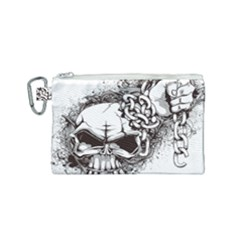 Skull And Crossbones Canvas Cosmetic Bag (small)
