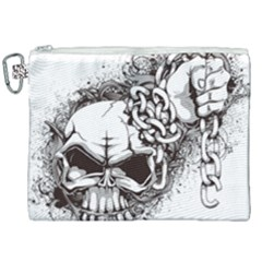 Skull And Crossbones Canvas Cosmetic Bag (xxl)