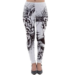 Skull And Crossbones Lightweight Velour Leggings