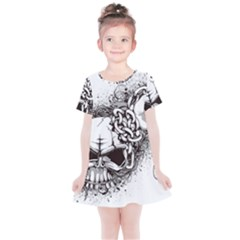 Skull And Crossbones Kids  Simple Cotton Dress