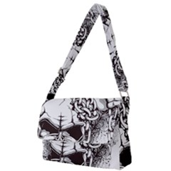 Skull And Crossbones Full Print Messenger Bag