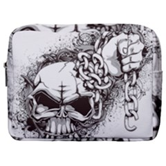 Skull And Crossbones Make Up Pouch (large)