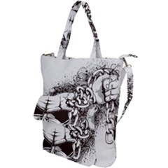 Skull And Crossbones Shoulder Tote Bag