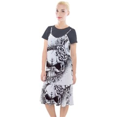 Skull And Crossbones Camis Fishtail Dress
