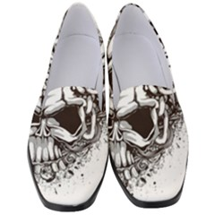 Skull And Crossbones Women s Classic Loafer Heels