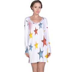 Star Rainbow Long Sleeve Nightdress