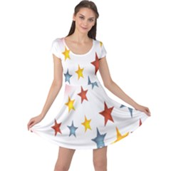 Star Rainbow Cap Sleeve Dress
